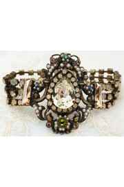 Michal Negrin Champagne Crystal Statement Bracelet