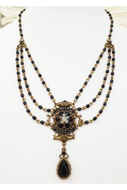 Michal Negrin Black Grey Daphne Necklace