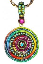 Michal Negrin Multicolor Round Locket Necklace