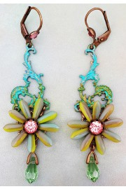 Michal Negrin Retro Tropical Flower Earrings