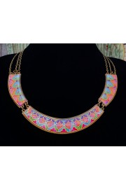 Michal Negrin Multicolor Vitrage Inspired Links Necklace
