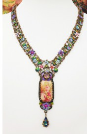 Michal Negrin Elongated Cameo Y Drop Necklace