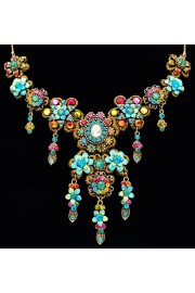 Michal Negrin Multicolor Lace Party Necklace