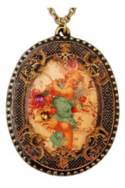 Michal Negrin Angel Oval Filigree Necklace