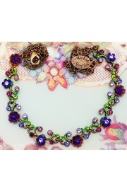Michal Negrin Purple Floral Chain Necklace