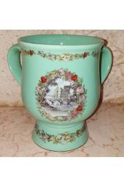 Michal Negrin Green Porcelain Vase / Dish