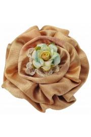 Michal Negrin Satin Flower Brooch