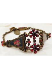 Michal Negrin Red Roses Panels Bracelet