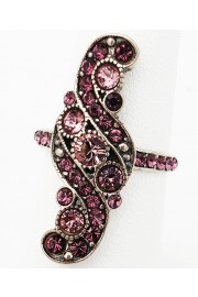 Michal Negrin Silver Plated Purple Crystal Ring