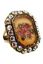 Michal Negrin Crystal Rose Cameo Ring