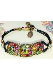Michal Negrin Multicolor Crystals Stranded Bracelet