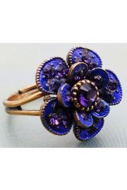 Michal Negrin Purple Flower Ring