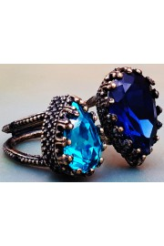 Michal Negrin Blue Turquoise Double Crystal Ring