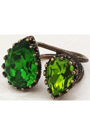 Michal Negrin Green Double Crystal Ring