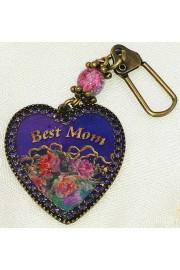 Michal Negrin Best Mom Heart Key Ring