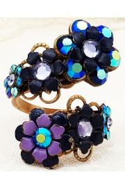 Michal Negrin Midnight Blue Purple Spiral Ring
