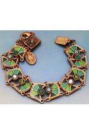 Michal Negrin Green Vitrage Inspired Bracelet