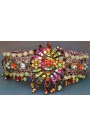 Michal Negrin Multicolor Fireworks Velvet Strand Bracelet