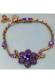 Michal Negrin Purple Paved Flower Bracelet
