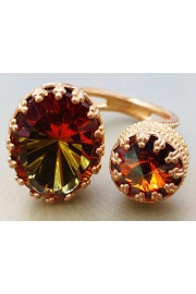 Michal Negrin Amber Double Crystal Ring