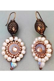 Michal Negrin Victoriana Beaded Pearl Earrings
