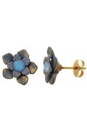 Michal Negrin Icy Blue Flower Stud Earrings