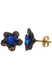Michal Negrin Blue Flower Stud Earrings