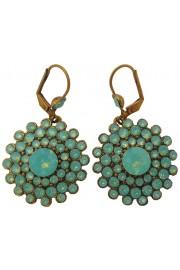 Michal Negrin Sea Green Round Earrings