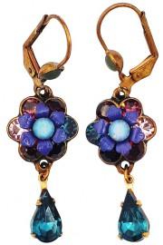 Michal Negrin Purple Blue Teardrop Earrings