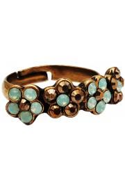 Michal Negrin Mirror Bronze Sea Green Row Ring