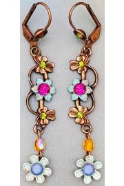 Michal Negrin Floral Dangle Drop Earrings