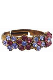 Michal Negrin Purple Lavender Row Ring