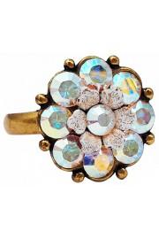 Michal Negrin Aurora Borealis Crystal Flower Ring