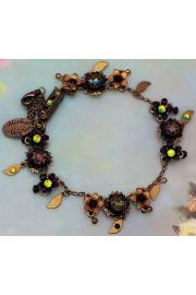 Michal Negrin Black Vitrail Crystal Flowers Bracelet