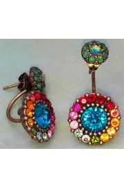 Michal Negrin Multicolor Double Flower Earrings