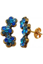 Michal Negrin Blue Aqua Turquoise Climbing Stud Earrings