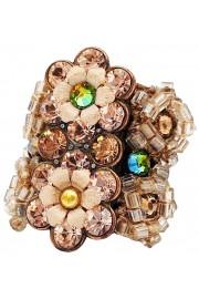 Michal Negrin Peach Crystal Cuff Ring