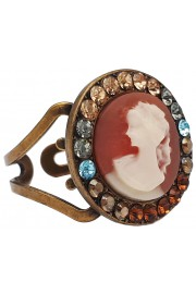 Michal Negrin Victorian Lady Cameo Bronze Ring