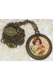 Michal Negrin Love Round Pendant Necklace