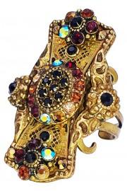 Michal Negrin Filigree Crystal Ring