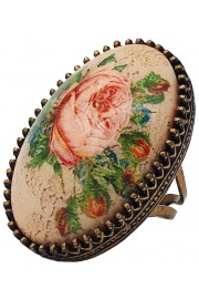 Michal Negrin Rose Cabochon Cameo Ring