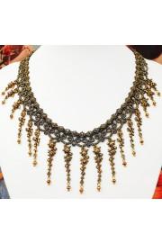 Michal Negrin Bronze Rose Drops Choker Necklace