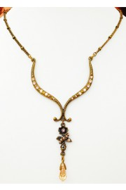 Michal Negrin Pearl Gold Drop Pendant Necklace