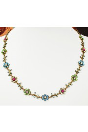 Michal Negrin Daisy Chain Crystal Necklace