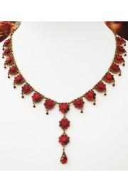 Michal Negrin Red Y Drop Necklace