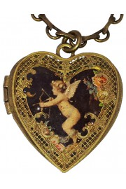 Michal Negrin Cupid Heart Locket Necklace