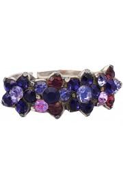 Michal Negrin Purple Stars Row Ring