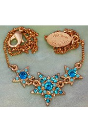 Michal Negrin Gold Plated Turquoise Stars Necklace