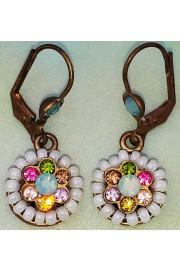 Michal Negrin Crystal Wheel Earrings