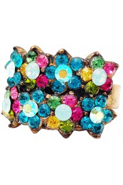 Michal Negrin Multicolor Turquoise Double Row Ring